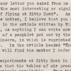 Extraordinary Orville Wright Letter Discussing the Birth of Manned Flight at Kitty Hawk