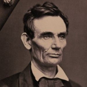 Roderick Cole's 1858 Beardless Photo of Abraham Lincoln--Signed