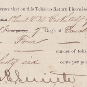 General Custer Signs Off on the Tobacco Allotment for Enlisted Men Who Died With Him at Little Bighorn