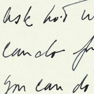 "JFK's Handwritten Quote: ""Ask not what your country can do for you - ask what you can do for your country"""