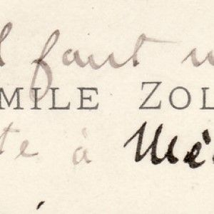 Emile Zola Writes to Alfred Dreyfus at the Height of the Dreyfus Affair