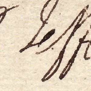 Thomas Jefferson's Visiting Card, Bearing His Signature in an Ornate Printed Border - A Rarity