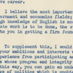 Life's Lessons: John F. Kennedy Advises a College Student What Classes to Take for a Life in Politics