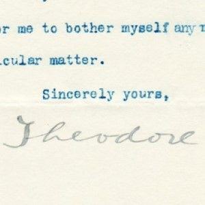 Theodore Roosevelt Writes