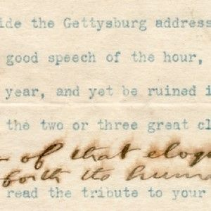 Theodore Roosevelt on Abraham Lincoln's Gettysburg Address: