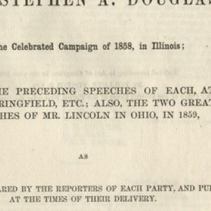 Lincoln-Douglas Debates Book Inscribed By Abraham Lincoln in Ink to His Old Law Partner Logan: A Rarity