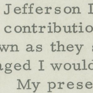 President John F. Kennedy Says He's Tempted to Write About Thomas Jefferson but His Current Job Takes Up All His Time