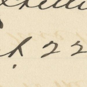 Signature of Young Officer, J.J. Crittenden, Killed With Custer at the Battle of Little Bighorn