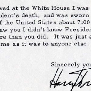 Harry Truman Tells How He Learned He Became the President: FDR's Death, He Says, Was a Complete Surprise