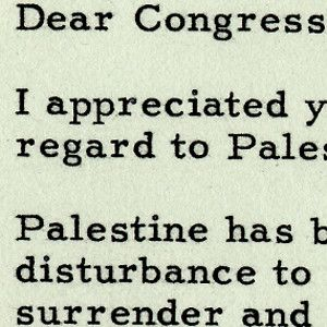 "Palestine, Truman Says, is a ""Matter of Considerable Disturbance"" to be Determined by U.N."