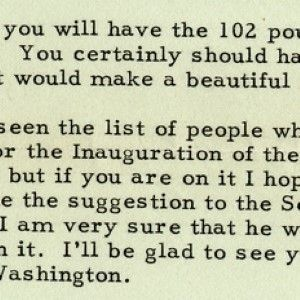 President Harry Truman Refers to Life in the White House as