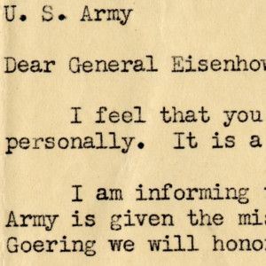 General Eisenhower Approves a Soldier's Request to Shoot Captured Reich Marshal Goering -