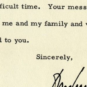 President John F. Kennedy on the Death of His Infant Son, Patrick Bouvier Kennedy