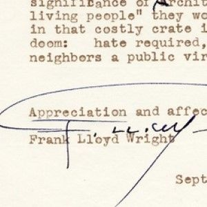 Frank Lloyd Wright on