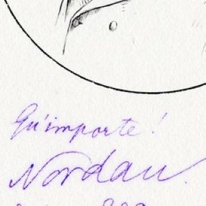 Signed Etching of Max Nordau