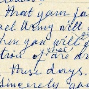 David Ben-Gurion Asks a Manuscript Collector About a 1945 Photograph, At the Start of the Six-Day War