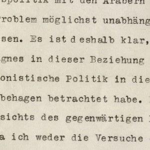 Einstein Discusses an Understanding With the Arabs and Zionist Politics in 1942