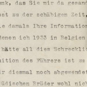 Einstein On His Anti-Nazi Work: