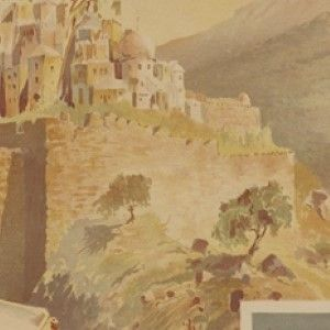 1898 French Railway Travel Poster Advertising Palestine