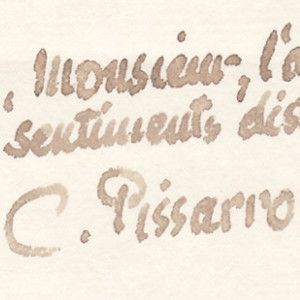 Camille Pissarro's Autographed Letter in Support of Emile Zola Amidst the Dreyfus Affair