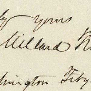 A Handsome Autograph Sentiment from Millard Fillmore as President