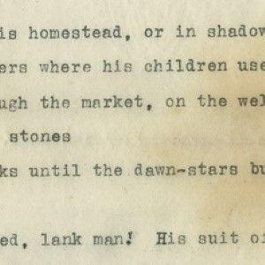 Manuscript of Vachel Lindsay's