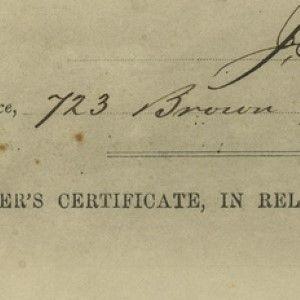 Dr. Jacob Da Silva Solis Cohen Certifies the 1864 Death of a