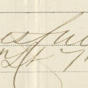 Signature of James Calhoun, Custer's Brother-in-Law, Killed With Him at the Battle of Little Bighorn