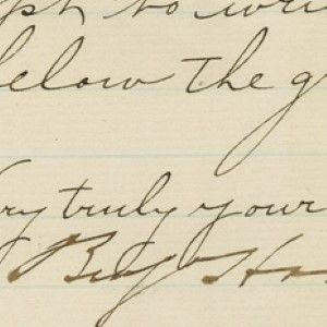 Senator Benjamin Harrison on Writing about the