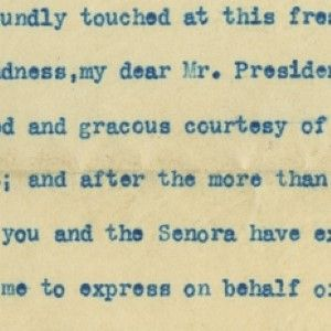 Theodore Roosevelt Writes From