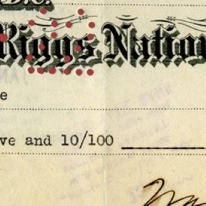 A Very Rare President Warren G. Harding Signed Check