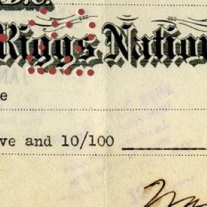 A Very Rare President Warren G. Harding Signed Check