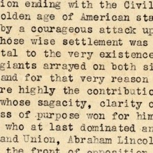 President Warren G. Harding Acclaims Abraham Lincoln the Apogee of the Golden Age of American Statesmanship
