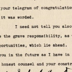Franklin D. Roosevelt, as President-Elect, Recognizes the