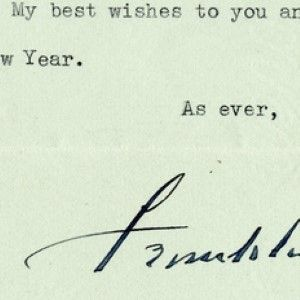 Franklin D. Roosevelt Thanks His Secretary of War for a