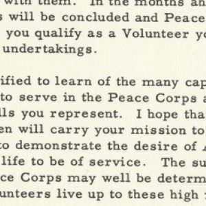 The Beginning of the Peace Corps: President Kennedy Welcomes the First Volunteers