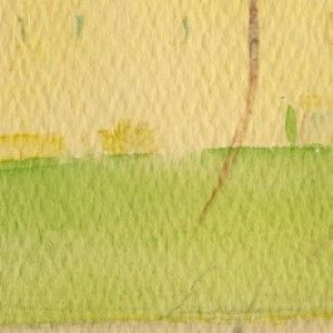 A Rare Original Watercolor by John F. Kennedy of the Kennedy Palm Beach Home in 1955