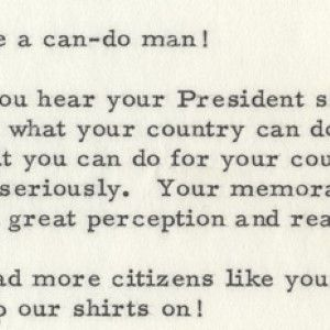 Vice President Johnson Quotes JFK's Famous