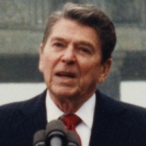 A Ronald Reagan Photo in Front of the Berlin Wall, Inscribed With