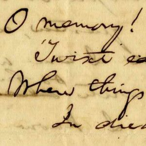 Abraham Lincoln's Scarce Reference to Deaths of Mother and Sister, With Accompanying Poem About Memory