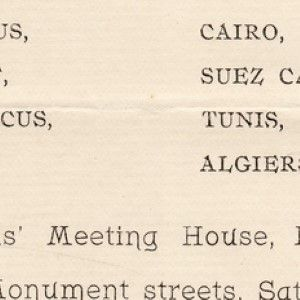 Dr. Cyrus Adler Lectures in 1893 On His Presidentially-Mandated Tour of the Levant