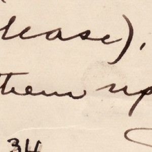 Mark Twain Directs His Publisher to Set Two Lines of Text in Facsimile, Not Typeface