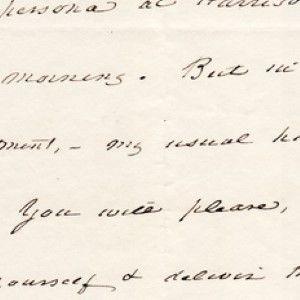 James Buchanan Teasingly Laments His