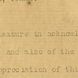 Benjamin Harrison: The Earliest Known Example of a Typewritten Presidential Letter