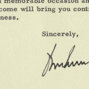 John F. Kennedy Letter, Post-Dated November 26, 1963, Signed Before He Left for Dallas