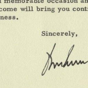 John F. Kennedy Letter, Post-Dated November 26, 1963, Signed Before He Left for Dallas