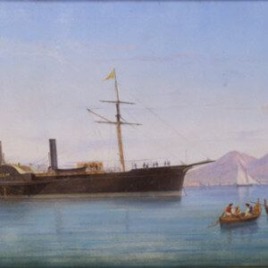 Original Painting of the Steamship