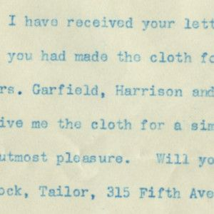 Teddy Roosevelt's Inauguration: TR Accepts a Gift For His 1905 Inauguration Day Suit